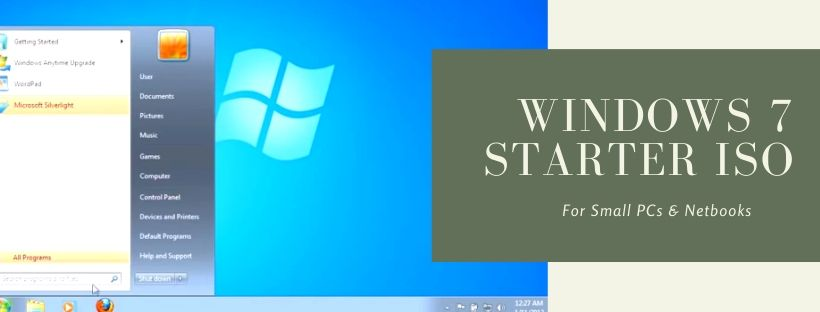 Download Windows 7 Starter ISO free