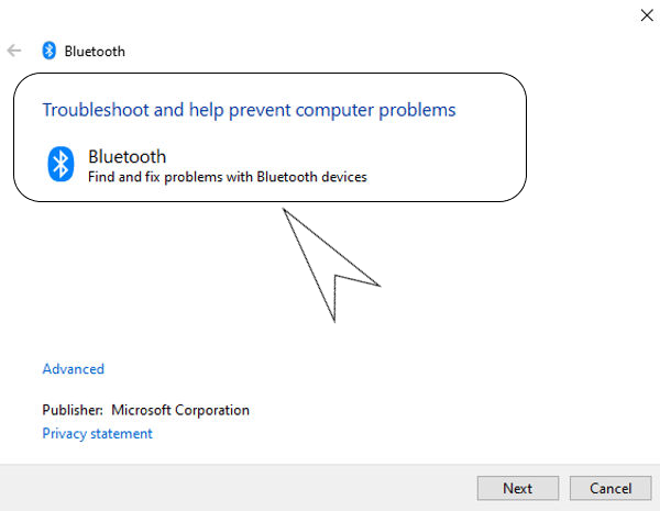 bluetooth connectivity error